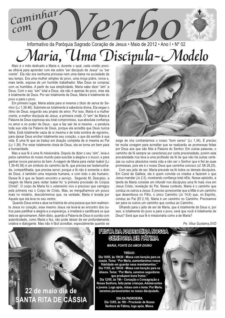 Informativo da Paróquia Sagrado Coração de Jesus • Maio de 2012 • Ano I • Nº 02                                           ...
