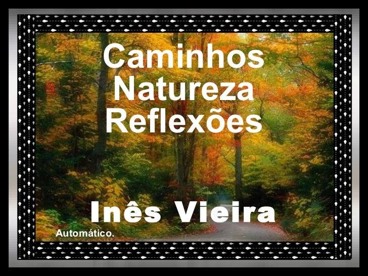 Caminhos Natureza Reflexões Inês Vieira Automático.