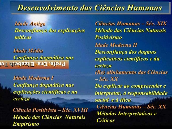 Desenvolvimento das Ciências Humanas      Desenvolvimento das Ciências Humanas     Idade Antiga                      Ciênc...