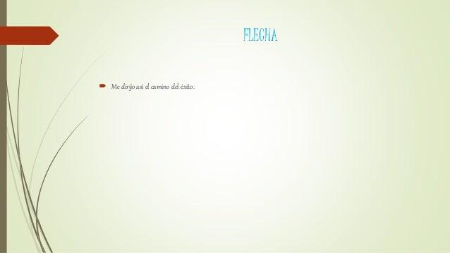 FLECHA  Me dirijo así el camino del éxito.