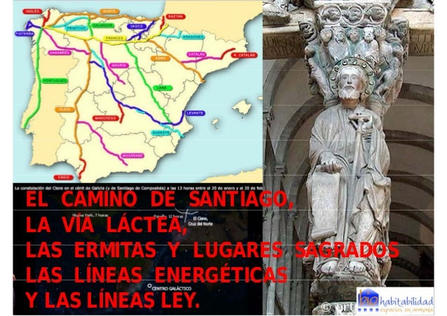 EL CAMINO DE SANTIAGO, ,LA VÍA LÁCTEA,LAS ERMITAS Y LUGARES SAGRADOSLAS LÍNEAS ENERGÉTICASY LAS LÍNEAS LEY.