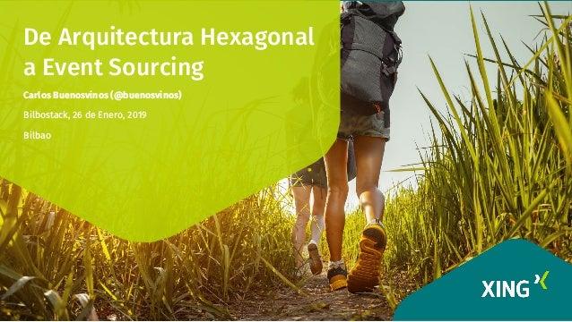 De Arquitectura Hexagonal a Event Sourcing Carlos Buenosvinos (@buenosvinos) Bilbostack, 26 de Enero, 2019 Bilbao