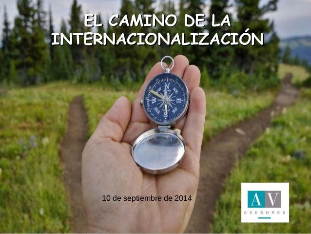 EELL CCAAMMIINNOO DDEE LLAA  IINNTTEERRNNAACCIIOONNAALLIIZZAACCIIÓÓNN  II JORNADAS EMPRENDEDORES  Sierra de Albarracín  15...