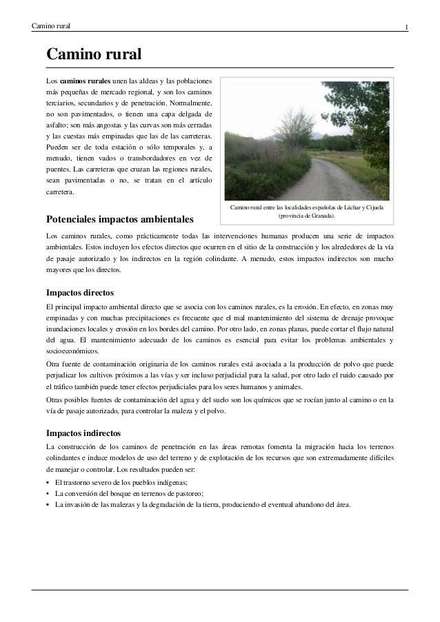Camino rural 1  Camino rural  Camino rural entre las localidades españolas de Láchar y Cijuela  (provincia de Granada).  L...