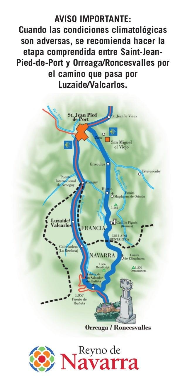 91 camino santiago franc s mapa y servicios y alojamientos - Bus from pamplona to st jean pied de port ...