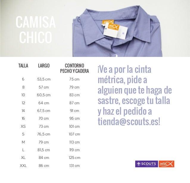 CAMISA CHICO ¡Ve a por la cinta métrica, pide a alguien que te haga de sastre, escoge tu talla y haz el pedido a tienda@sc...