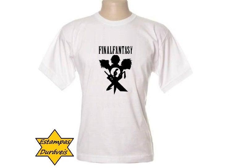 Camiseta final fantasy,      frases camiseta