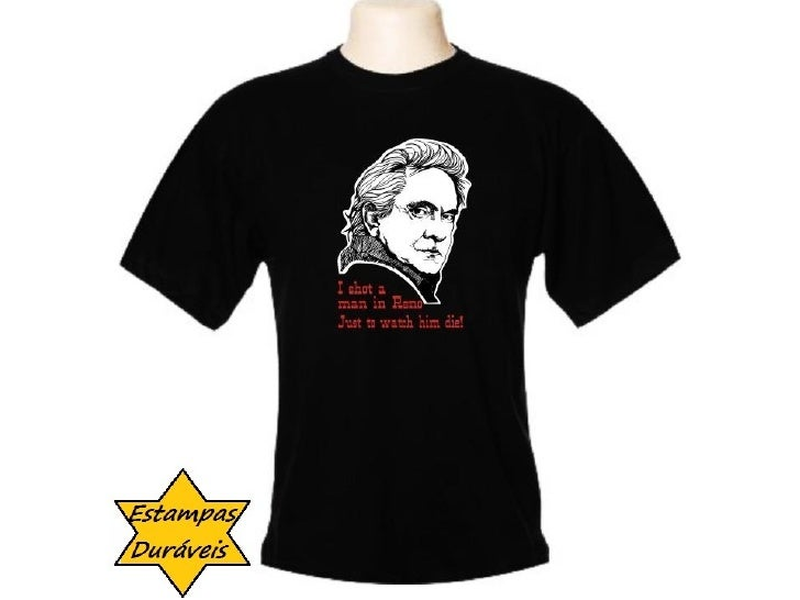 Camiseta johnny cash,      frases camiseta