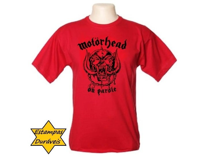 Camiseta motor head.      frases camiseta