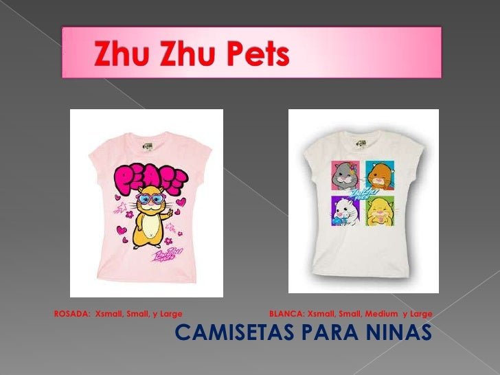 Zhu Zhu Pets<br />ROSADA:  Xsmall, Small, y Large                                     BLANCA: Xsmall, Small, Medium  y Lar...