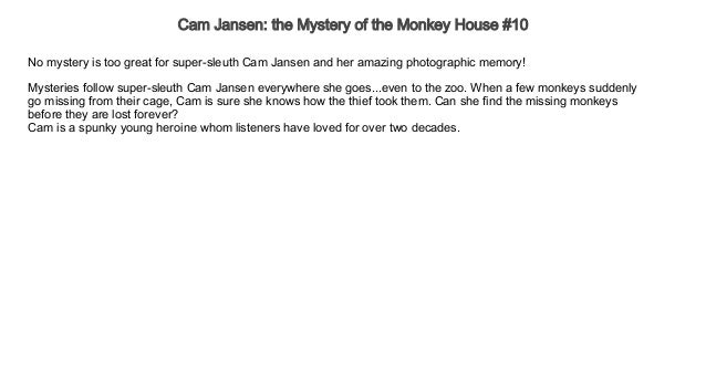 Cam Jansen the Mystery of the Monkey House #10 Audiobook