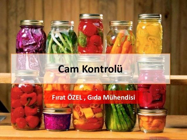 Cam Kontrolü Fırat ÖZEL , Gıda Mühendisi