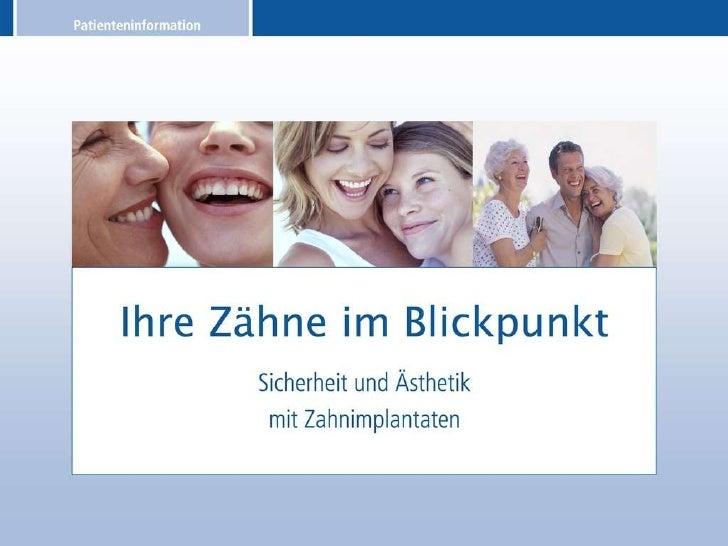 Patienteninformation über Zahnimplantate Slide 1