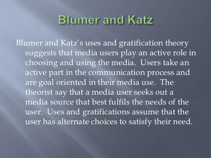uses of theory The uses and gratifications perspective was a fairly dramatic shift in the direction of mass communication research  uses and gratifications theory in the 21st .