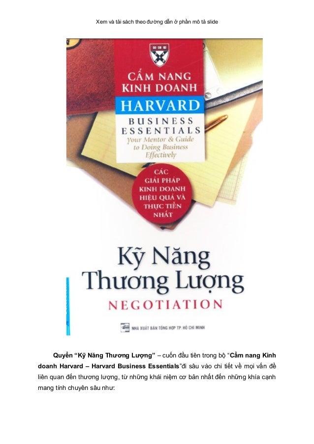 """Xem và tải sách theo đường dẫn ở phần mô tả slide Quyển """"Kỹ Năng Thương Lượng"""" – cuốn đầu tiên trong bộ """"Cẩm nang Kinh doa..."""