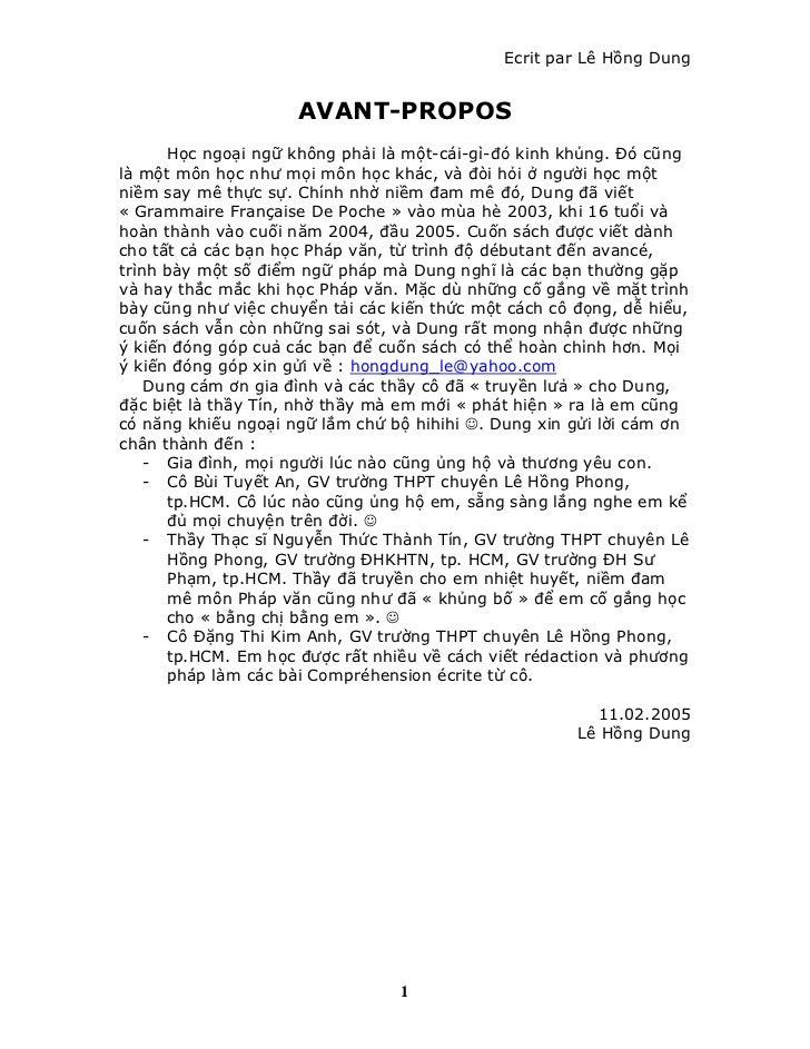 Ecrit par Lê Hồng Dung                     AVANT-PROPOS      Học ngoại ngữ không phải là một-cái-gì-đó kinh khủng. Đó cũng...
