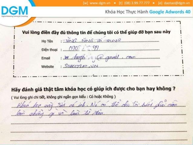 Cảm nhận của học viên về khóa học Google Adwords 40
