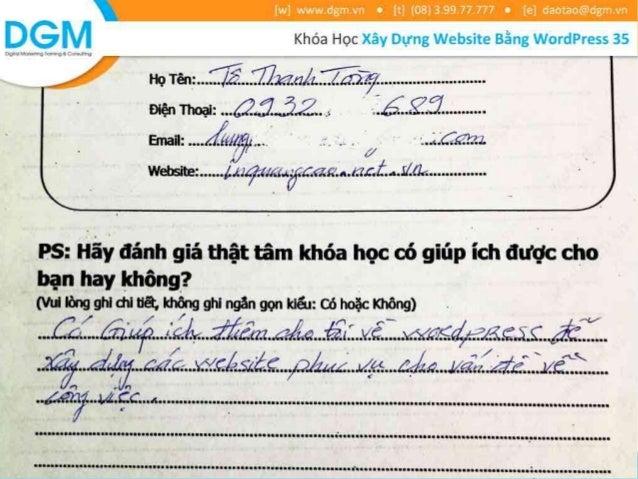 Cảm nhận của học viên về khóa học Xây Dựng Website bằng Wordpress 35