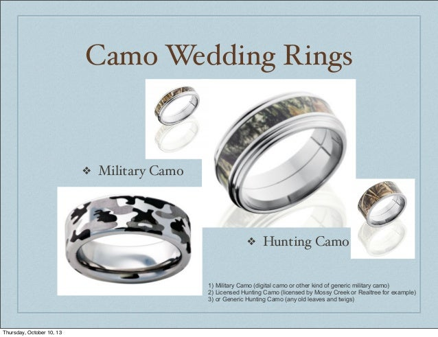 camo wedding rings thursday october 10 13 3 - Military Wedding Rings