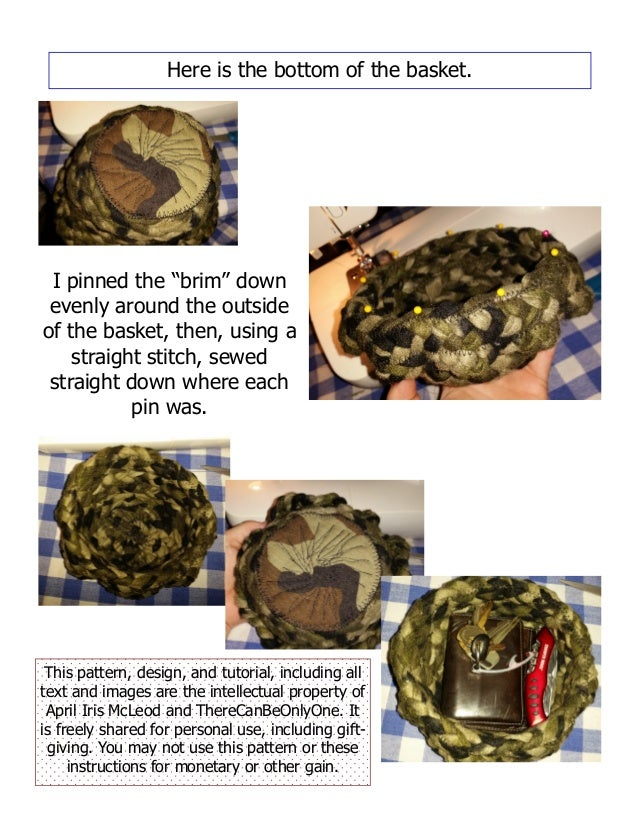 Camo braided basket tutorial