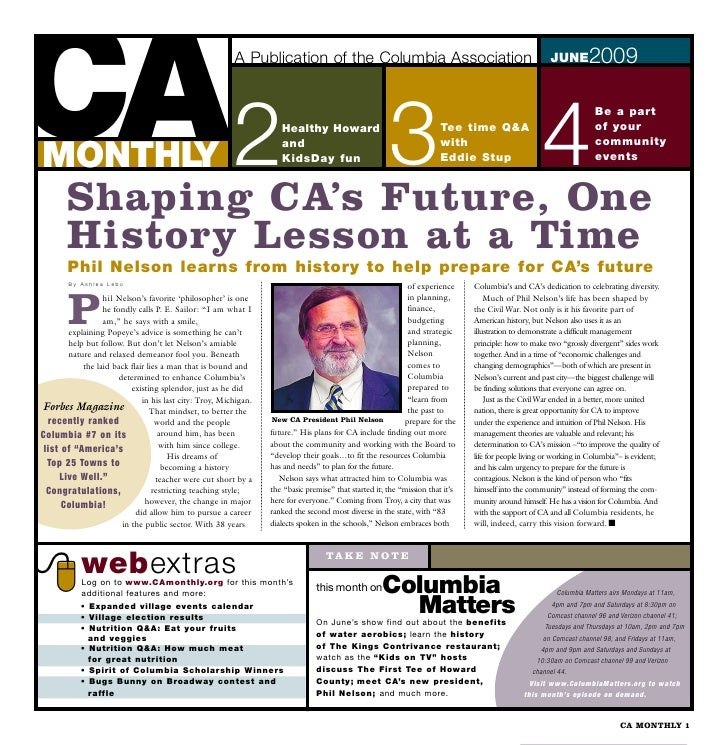 CA2 MONTHLY        Shaping CA's Future, One                                                         A Publication of the C...