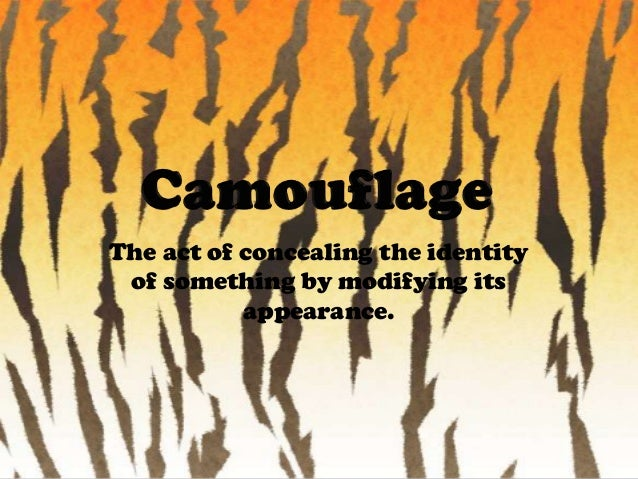 The act of concealing the identity of something by modifying its appearance.