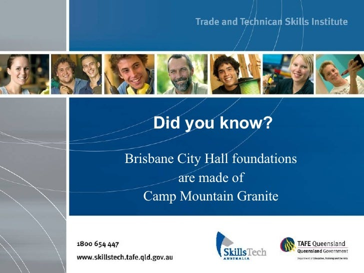 Did you know? Brisbane City Hall foundations  are made of  Camp Mountain Granite