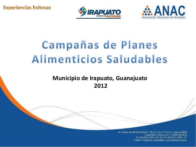 Municipio de Irapuato, Guanajuato2012