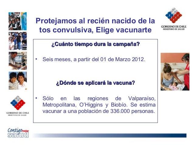 Protejamos al recién nacido de latos convulsiva, Elige vacunarte¿Cuánto tiempo dura la campaña?¿Cuánto tiempo dura la camp...