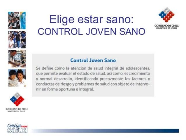 Elige estar sano:CONTROL JOVEN SANO