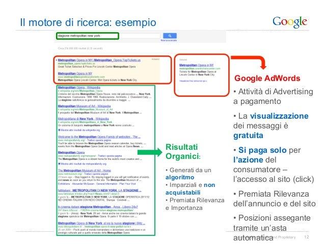 Il motore di ricerca: esempio                                                        Google AdWords                       ...