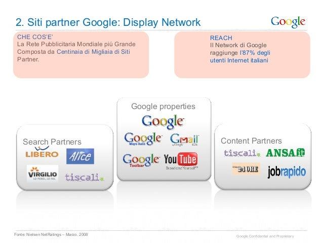 2. Siti partner Google: Display Network CHE COS'E'                                                   REACH La Rete Pubblic...