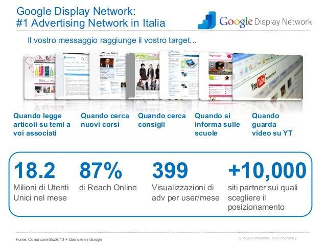 Google Display Network:#1 Advertising Network in Italia      Il vostro messaggio raggiunge il vostro target...Quando legge...
