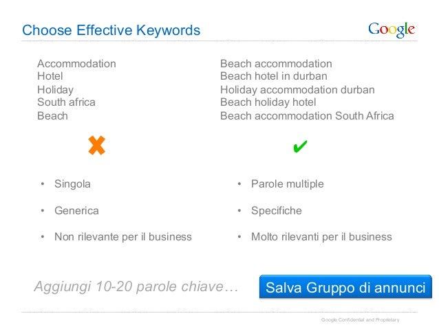 Choose Effective Keywords  Accommodation                      Beach accommodation  Hotel                              Beac...