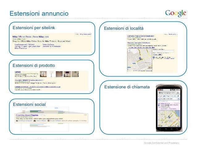 Estensioni annuncio Estensioni per sitelink   Estensioni di località Estensioni di prodotto                           Este...