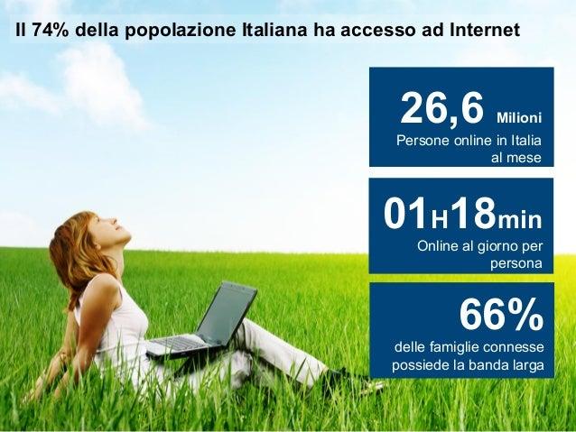 Il 74% della popolazione Italiana ha accesso ad Internet                                          26,6                    ...