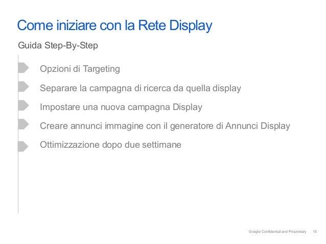 Come iniziare con la Rete DisplayGuida Step-By-Step     Opzioni di Targeting     Separare la campagna di ricerca da quella...