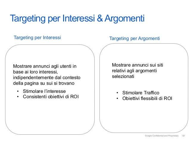 IntroTargeting per Interessi & Argomenti Targeting per Interessi            Targeting per ArgomentiMostrare annunci agli u...