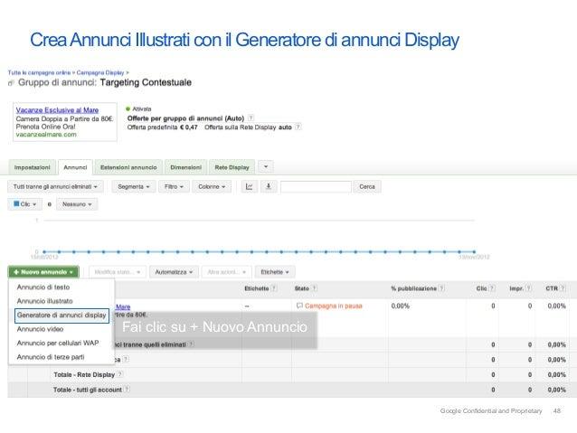 Crea Annunci Illustrati con il Generatore di annunci Display            Fai clic su + Nuovo Annuncio                      ...