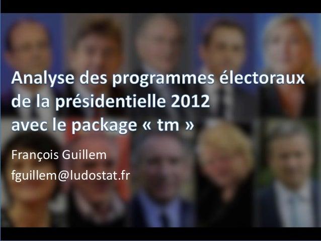 François Guillem fguillem@ludostat.fr