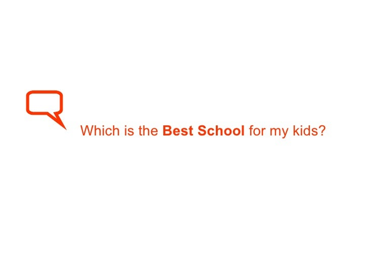 Which is the  Best School  for my kids?