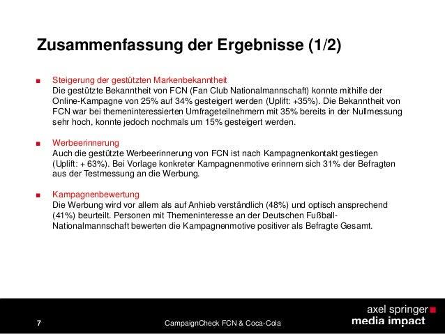 CampaignCheck Case-Study FCN & Coca Cola: Fan Club Nationalmannschaft…