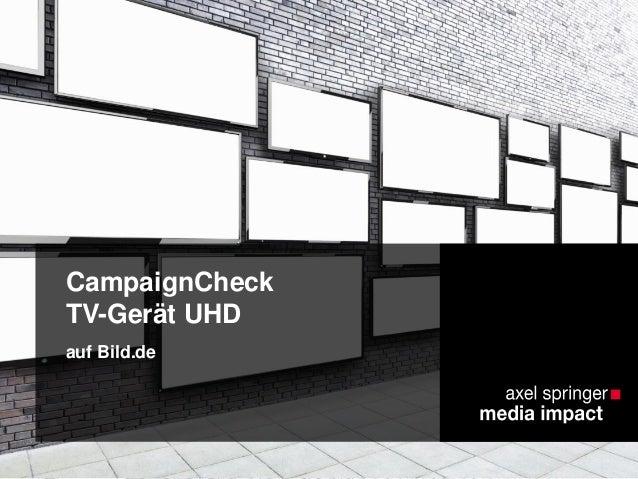 CampaignCheck TV-Gerät UHD auf Bild.de