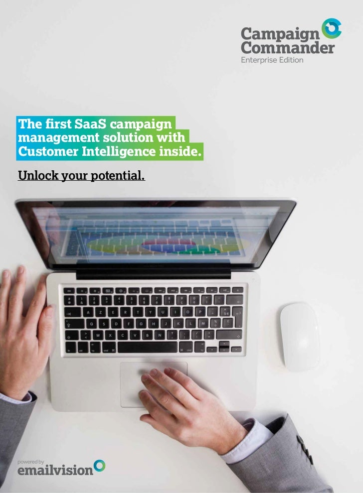 The first SaaS campaignmanagement solution withCustomer Intelligence inside.Unlock your potential.