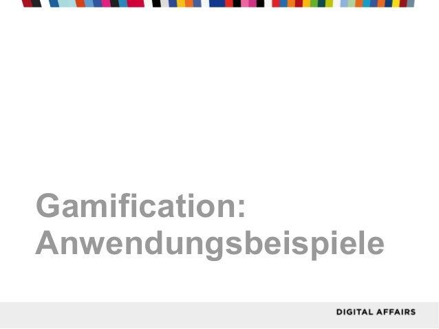 Gamification:Anwendungsbeispiele