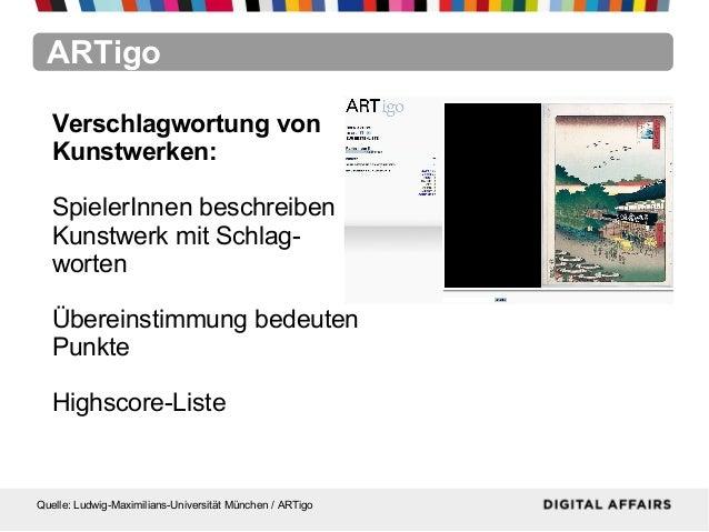 ARTigoQuelle: Ludwig-Maximilians-Universität München / ARTigoVerschlagwortung vonKunstwerken:SpielerInnen beschreibenKunst...