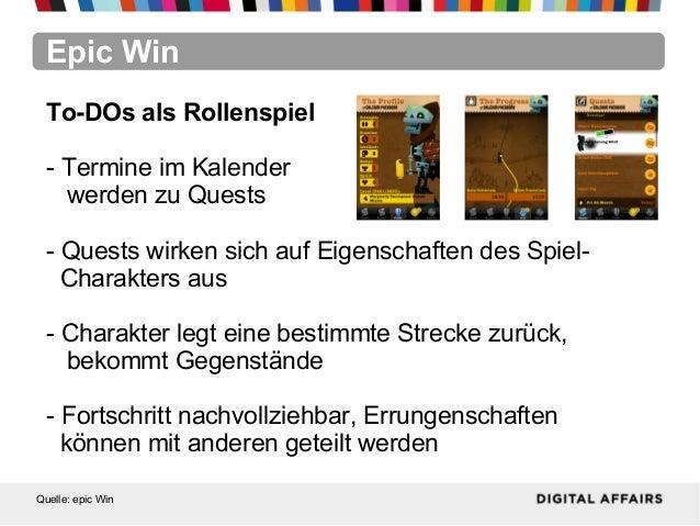 Epic WinQuelle: epic WinTo-DOs als Rollenspiel- Termine im Kalenderwerden zu Quests- Quests wirken sich auf Eigenschaften ...
