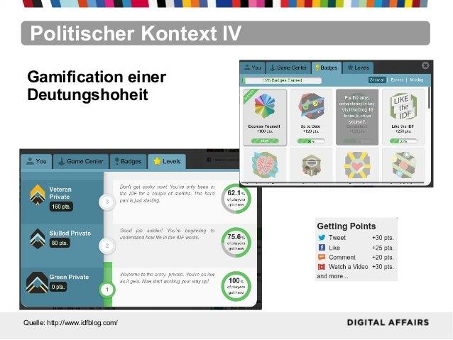 Politischer Kontext IVQuelle: http://www.idfblog.com/Gamification einerDeutungshoheit
