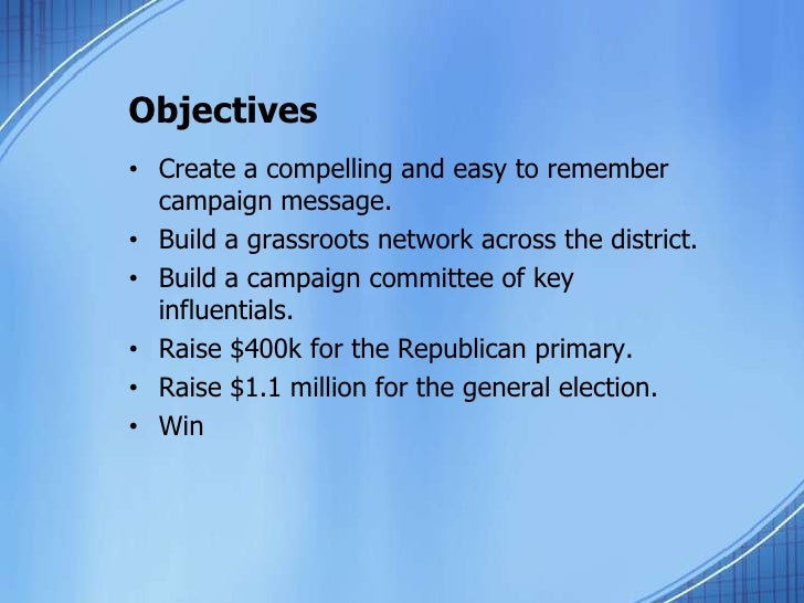 political campaign plan template pdf