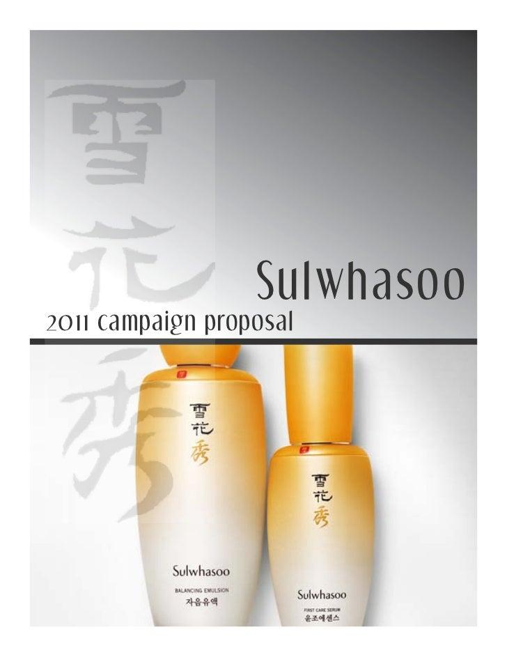 Sulwhasoo2011 campaign proposal